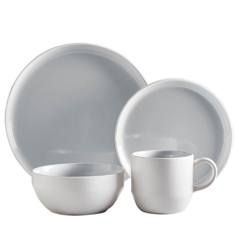 Oslo 16 Piece Dinnerware Set Nimbus Grey