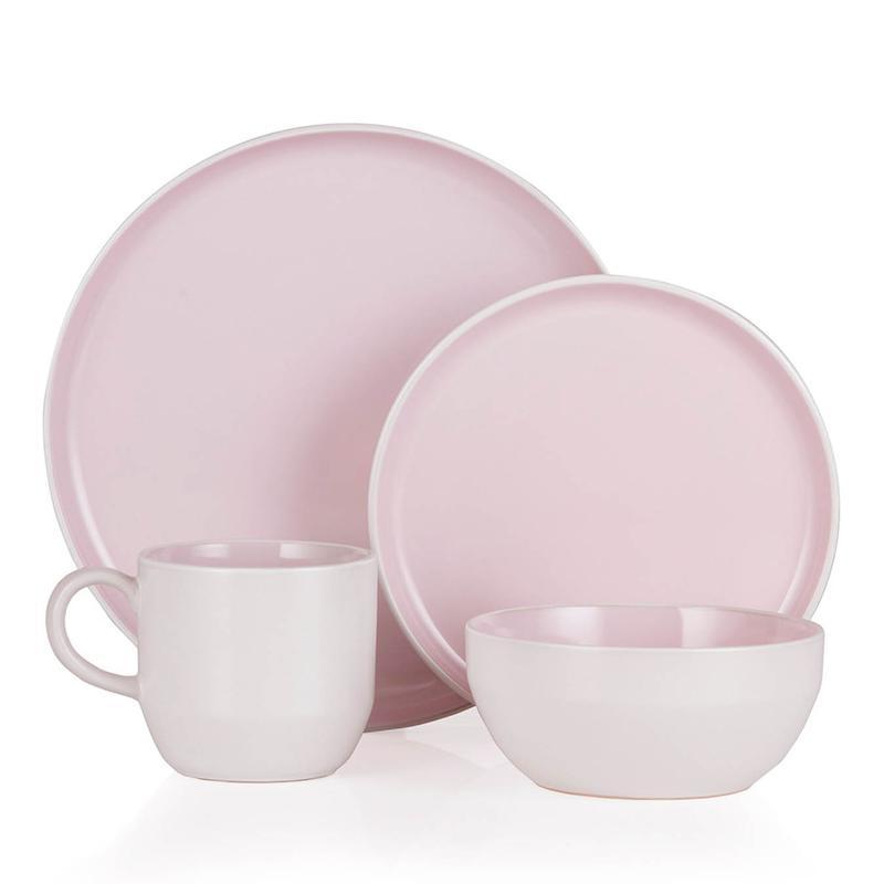 Oslo 16 Piece Dinnerware Set Powder Pink
