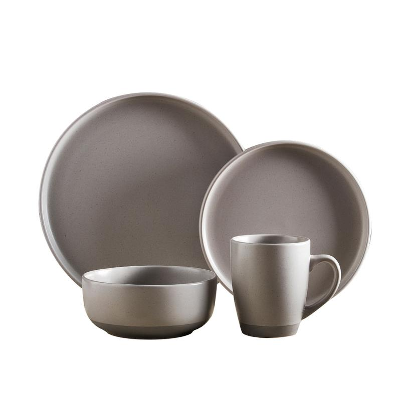 Avena 16 Piece Dinnerware Set Fossil Grey