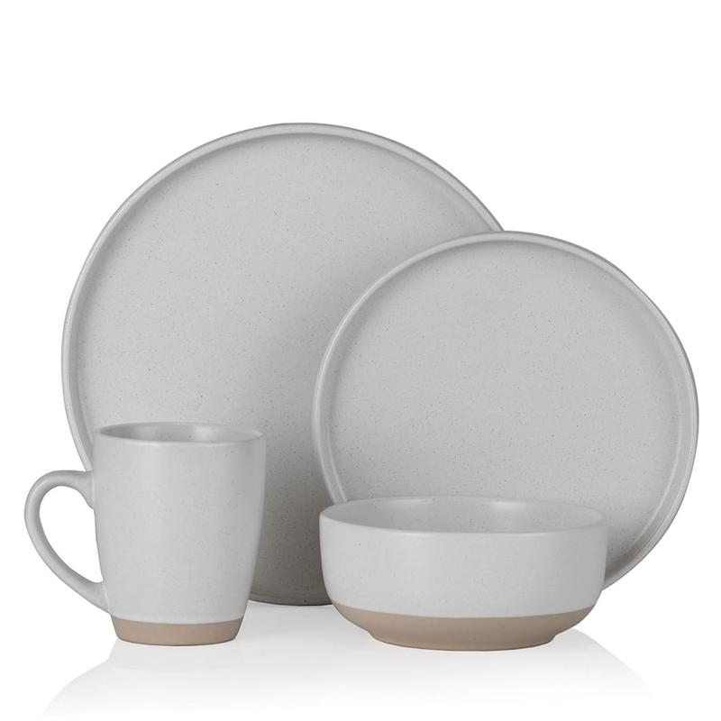 Avena 16 Piece Dinnerware Set Linen White