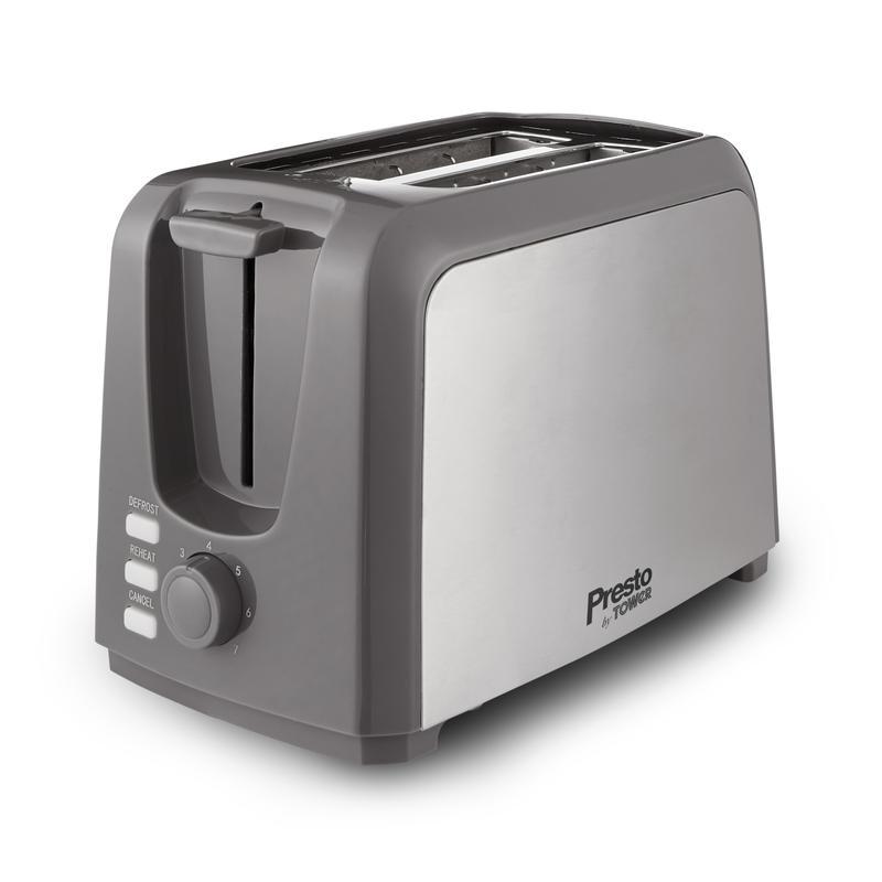 Presto 2 Slice Brushed S/S Toaster