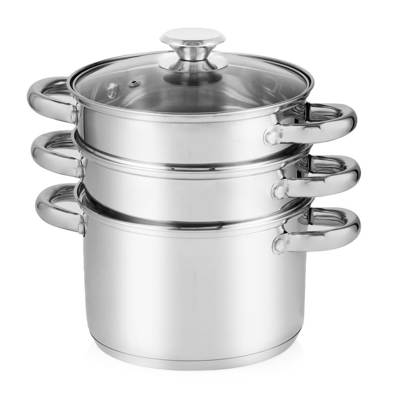 4 piece Pasta and Stepped Steamer Set S/Steel