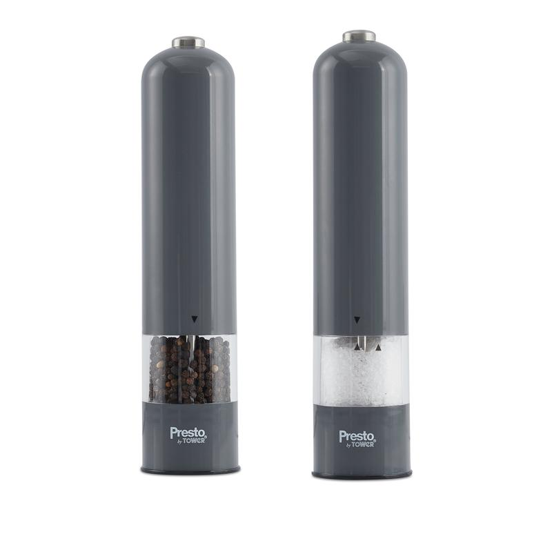 Presto by Tower Salt and Pepper Mill Set Grey