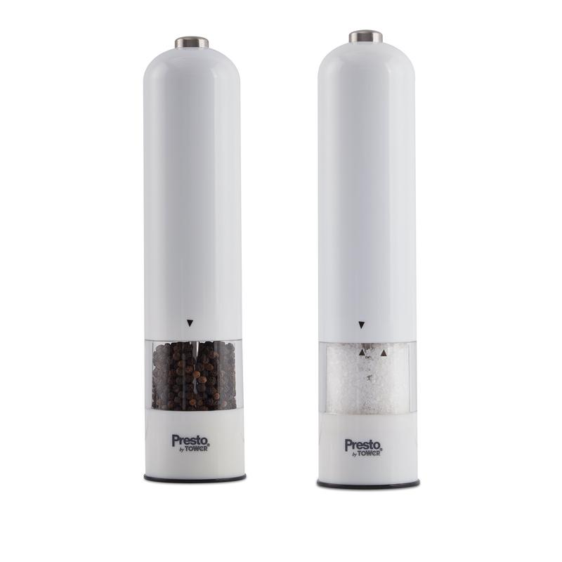Presto by Tower Salt and Pepper Mill Set White