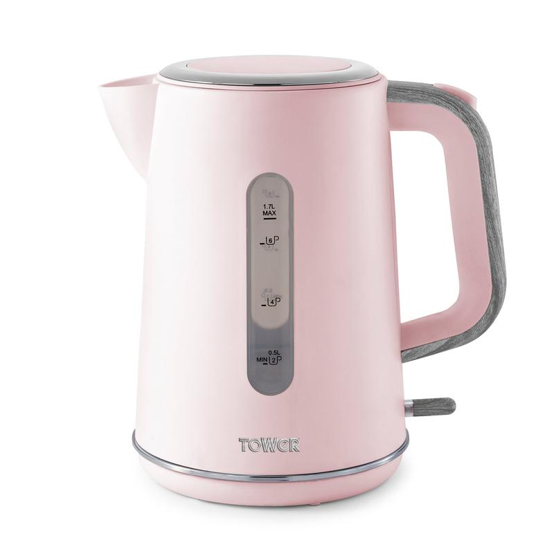 Scandi 3KW 1.7L Rapid Boil Kettle Marshmellow Pink