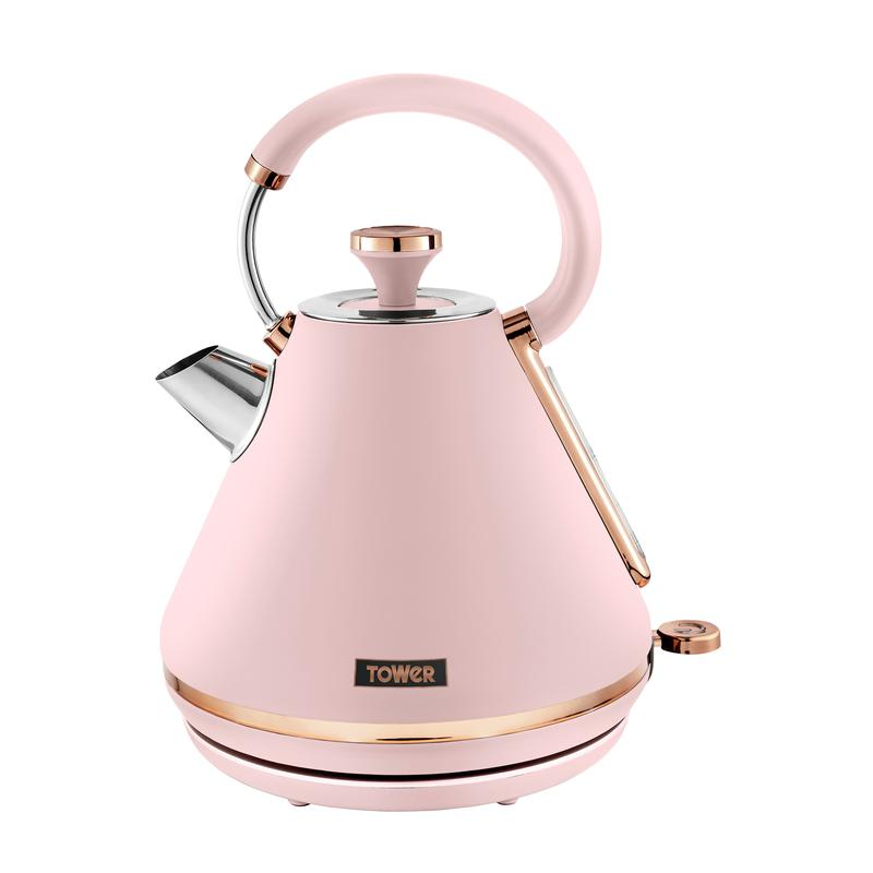 Cavaletto 3KW 1.7L Pyramid Kettle Marshmallow Pink and Rose Gold