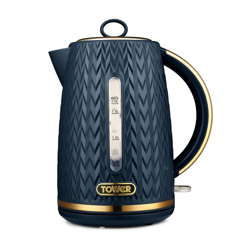 Empire 3KW 1.7L Kettle Midnight Blue with Brass Accents