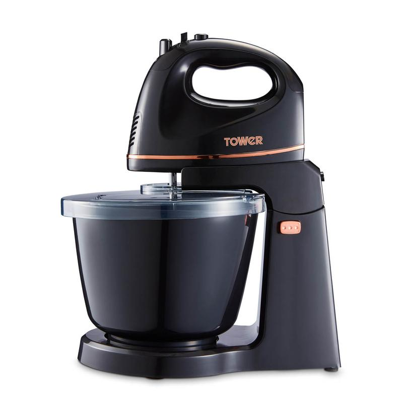 300W 2.5L Hand and Stand Mixer Black