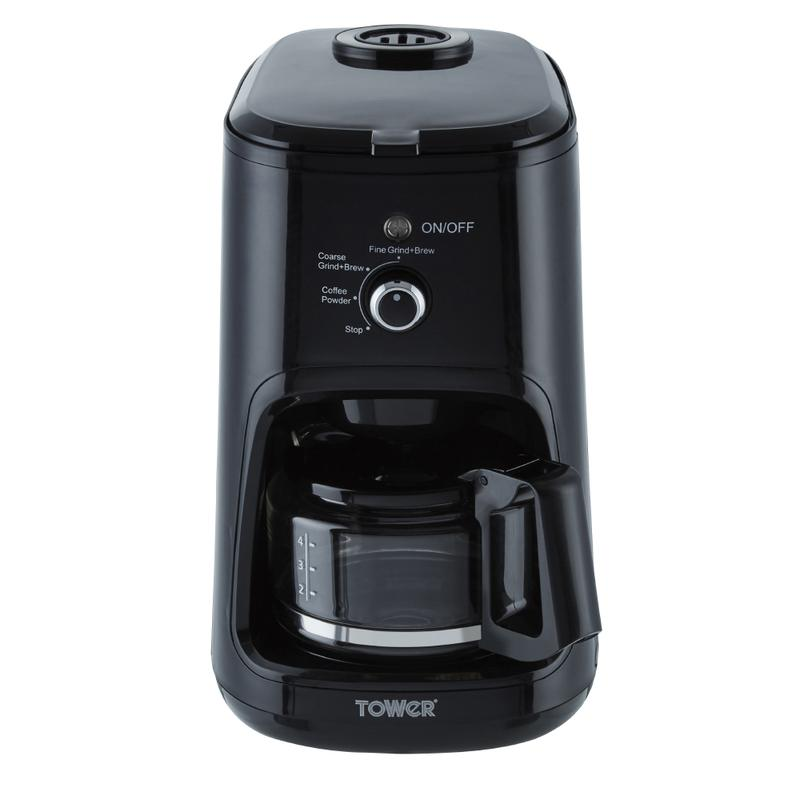900W Bean to Cup Coffee Maker Black