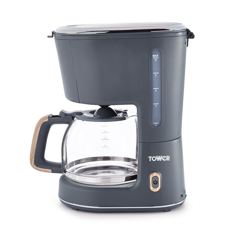 Scandi 900W 1.25L Coffee Maker Grey