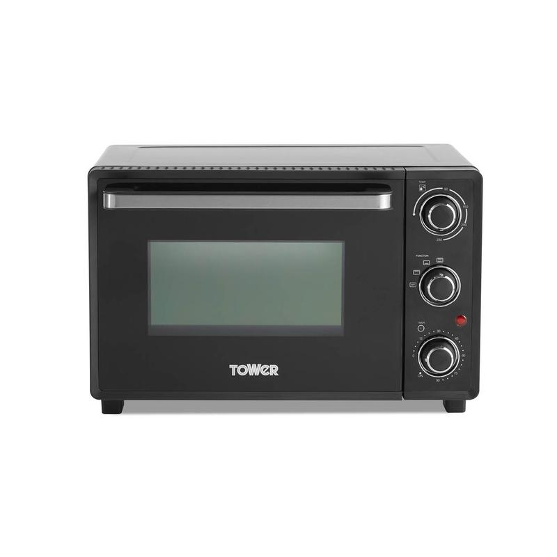 23L Mini Oven Black with Silver Accents