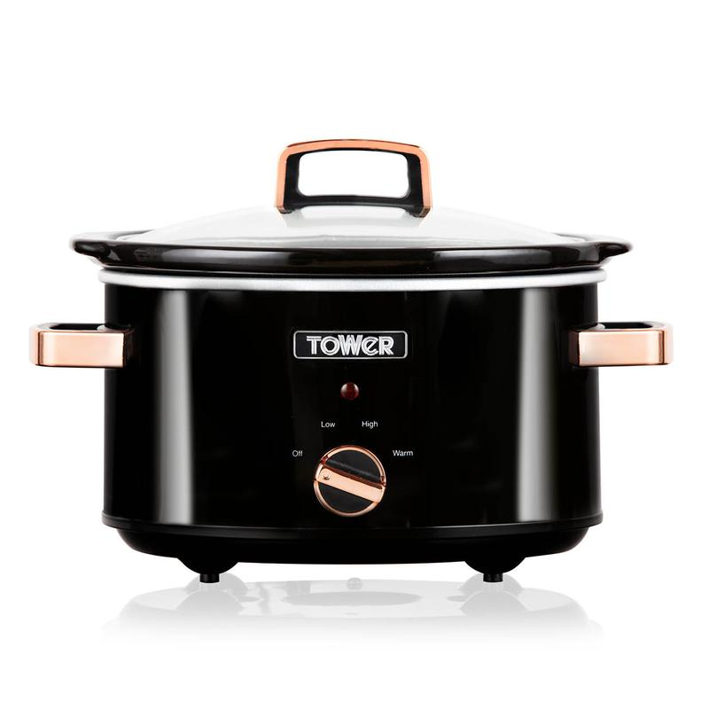 Infinity 3.5L Slow Cooker Black and Rose Gold