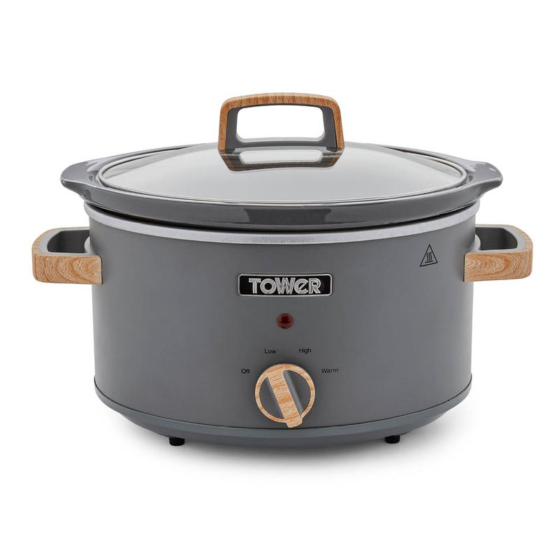 Tower Scandi 3.5L Stainless Steel Slow Cooker