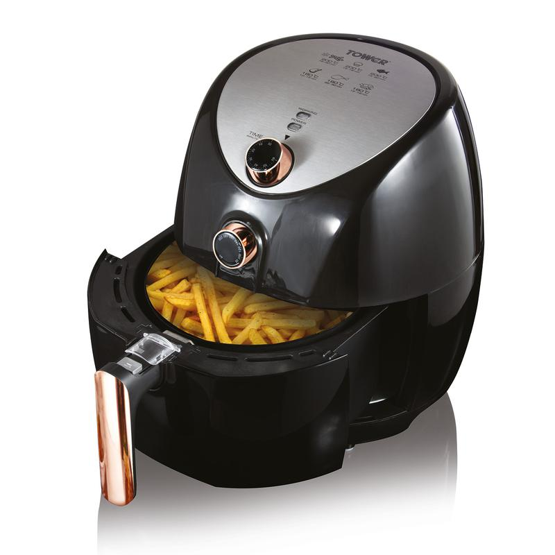 Rose Gold 1500W 4.3L Manual Air Fryer