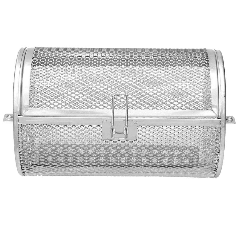 Rotating Mesh Frying Basket Stainless Steel Accessory