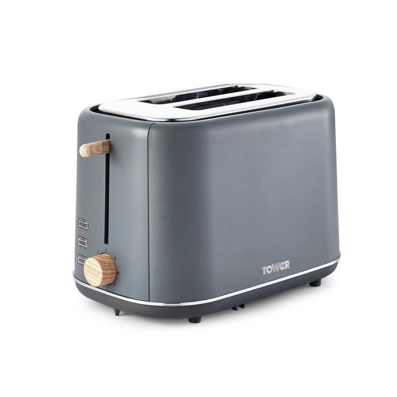 Scandi 2 Slice Toaster Grey