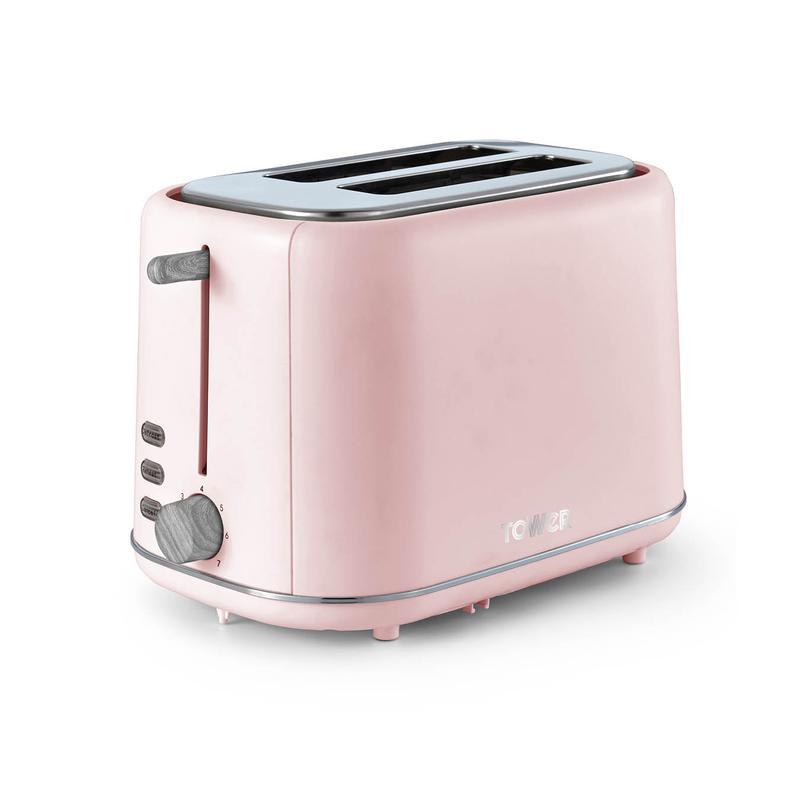 Scandi 2 Slice Toaster Marshmellow Pink
