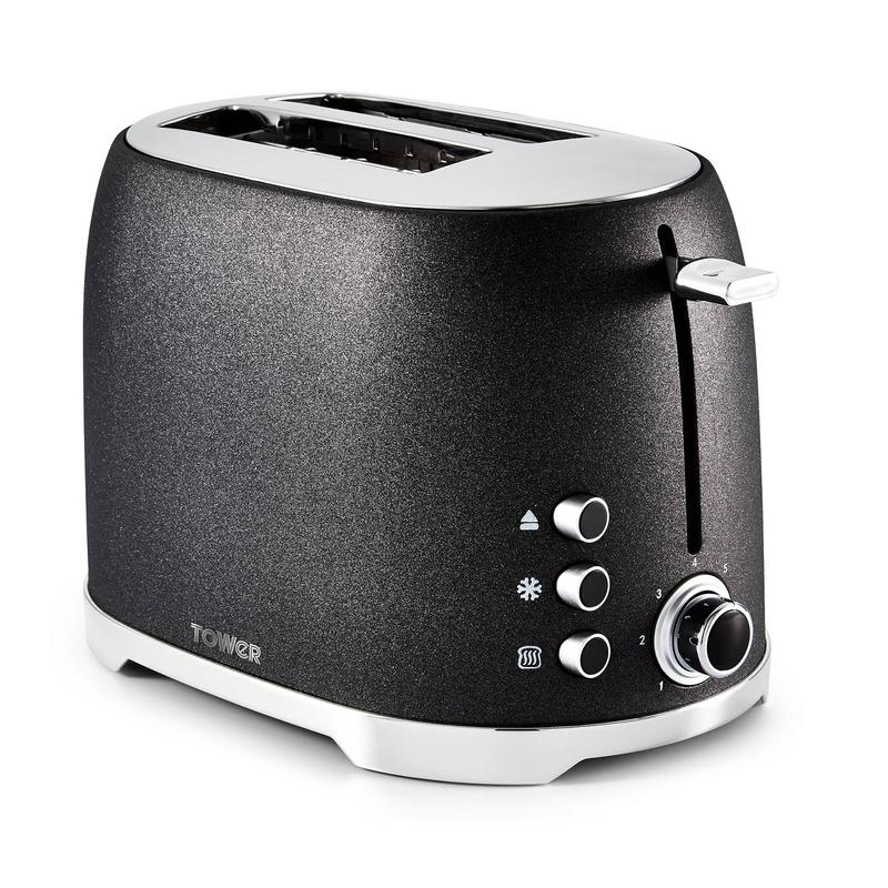 Glitz 2 Slice Toaster Black