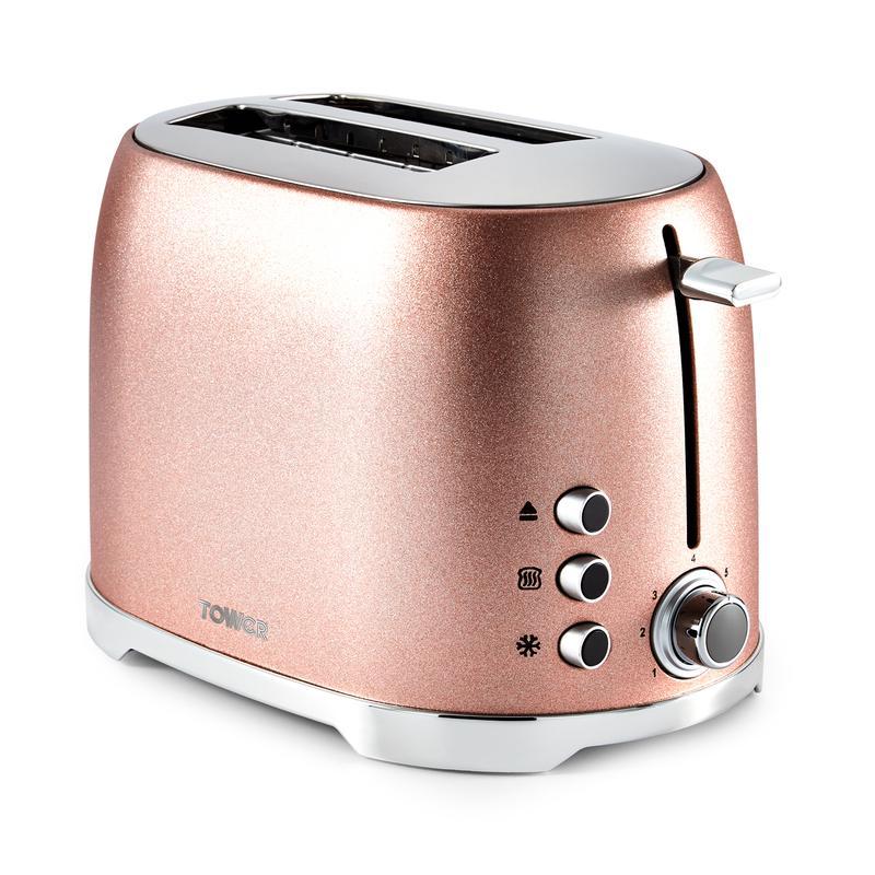 Glitz 2 Slice Toaster Blush Pink