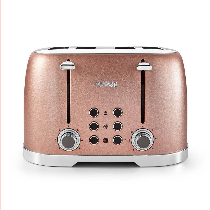 Glitz 4 Slice Toaster Blush Pink