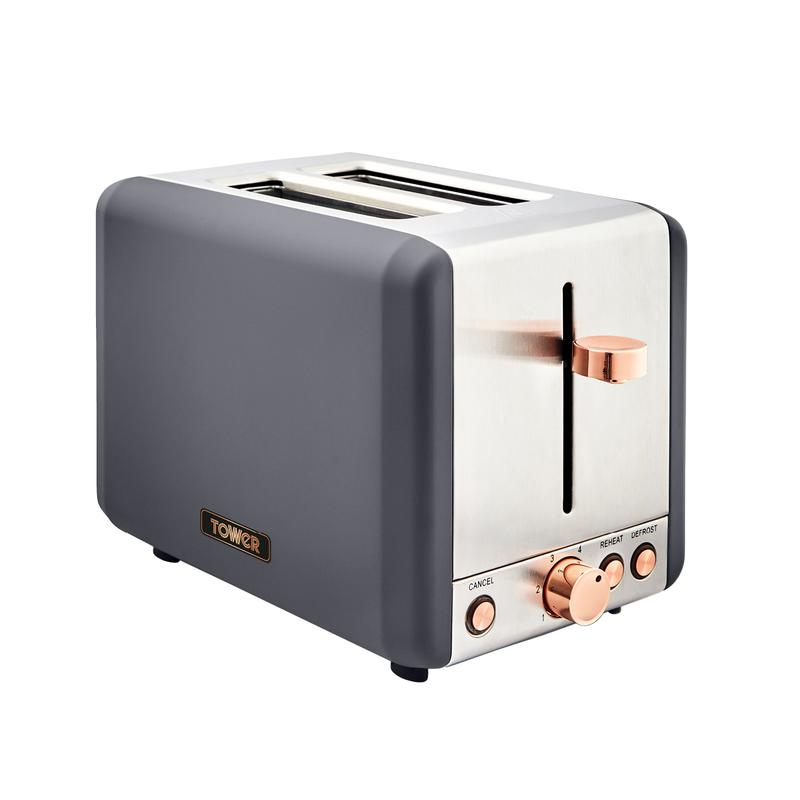 Cavaletto 850W 2 Slice Toaster S/Sl Grey