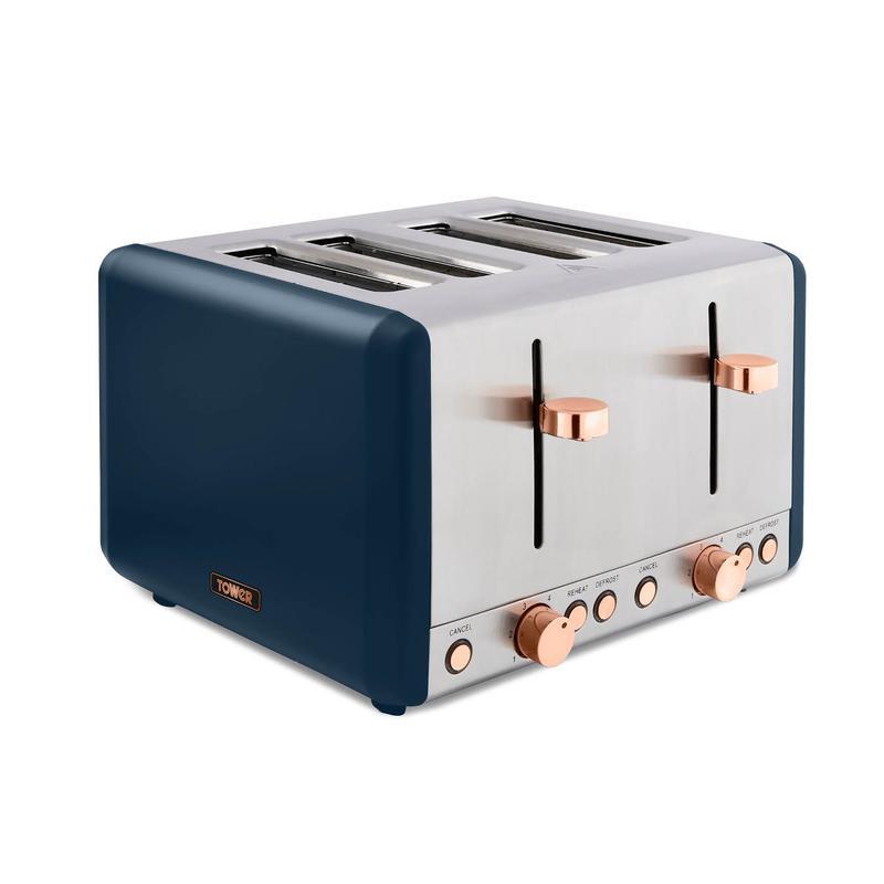 Cavaletto 1800W 4 Slice Toaster S/Sl Midnight Blue