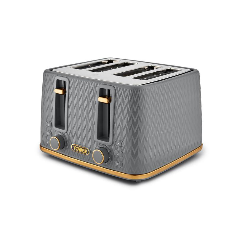 Empire 4 Slice Toaster Grey