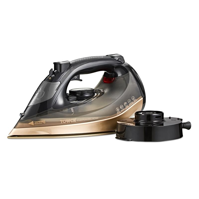 Ceraglide 2800W Steam Iron Black and Gold