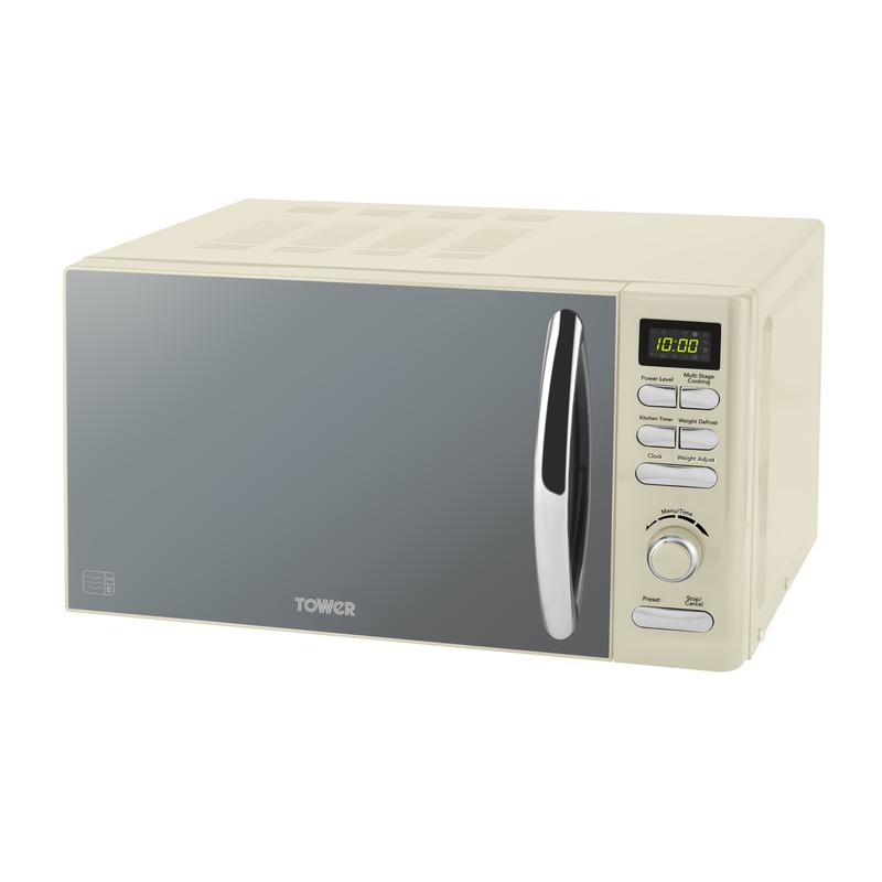 Infinity 800W 20L Digital Microwave Cream