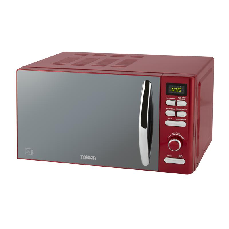 Infinity 800W 20L Digital Microwave Red