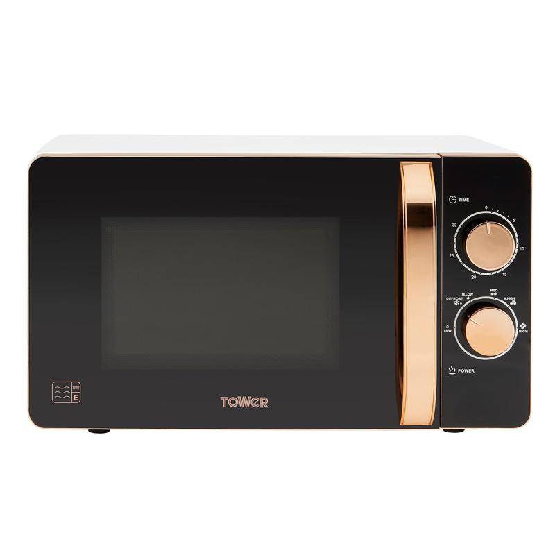 Rose Gold 800W 20L Manual Microwave White