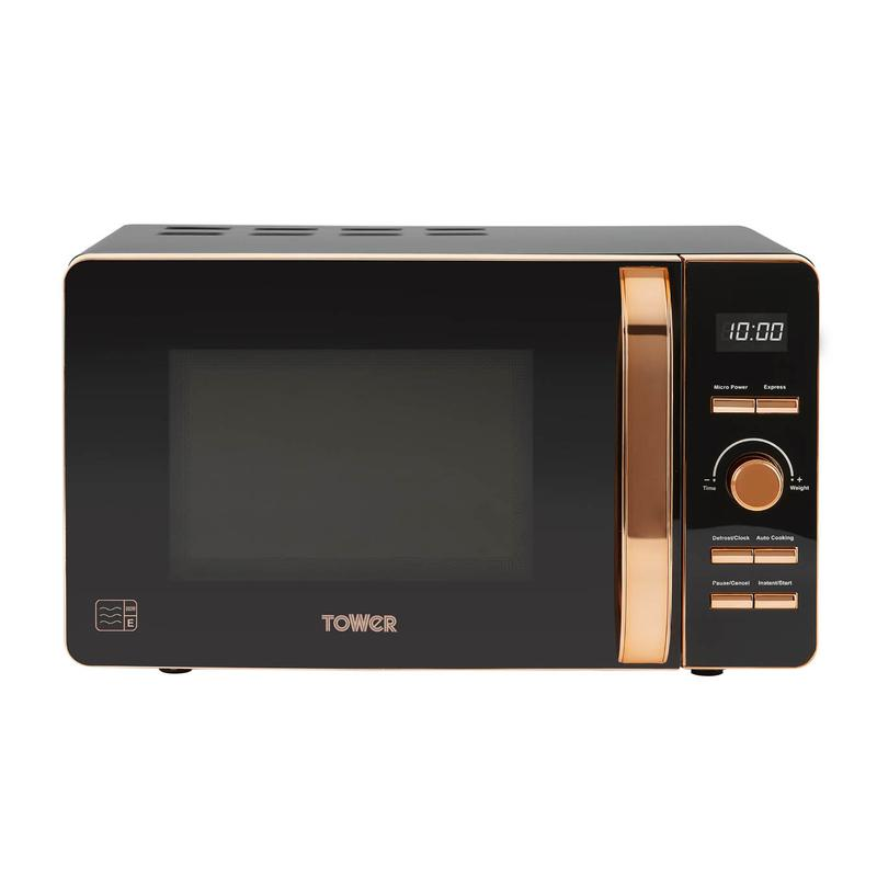 Rose Gold 800W 20L Digital Microwave