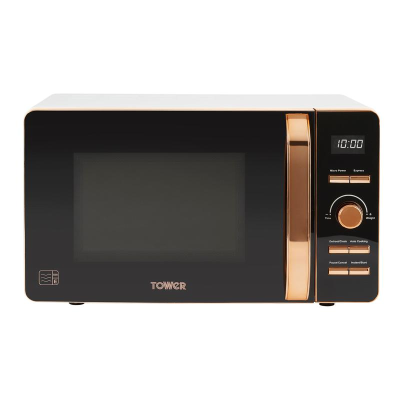 Rose Gold 800W 20L Digital Microwave White