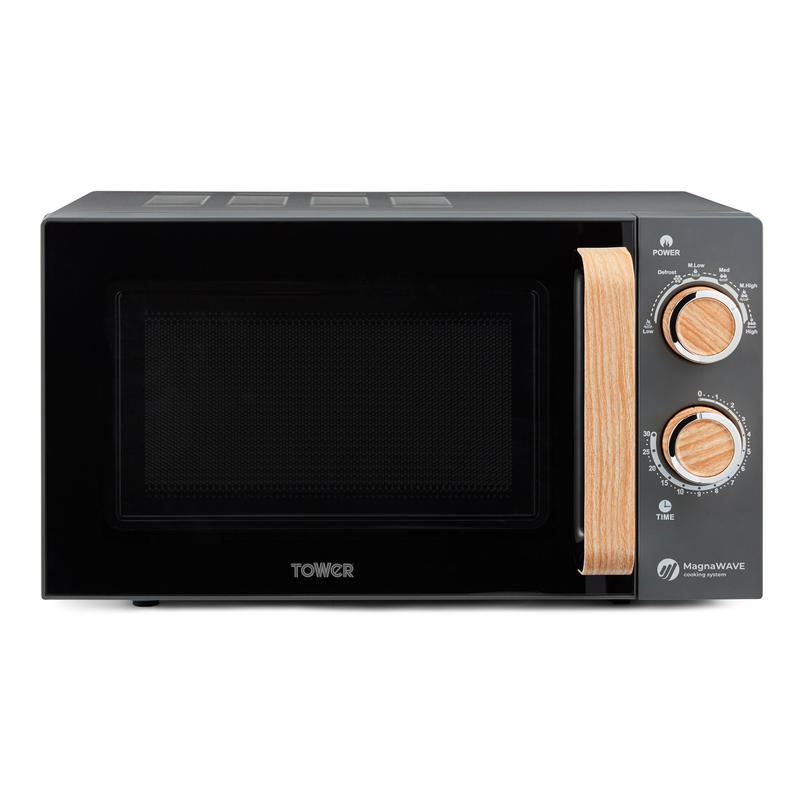 Scandi 800W 20L Manual Microwave Grey