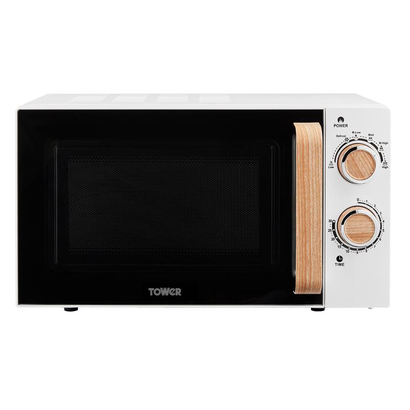Scandi 800W 20L Manual Microwave White