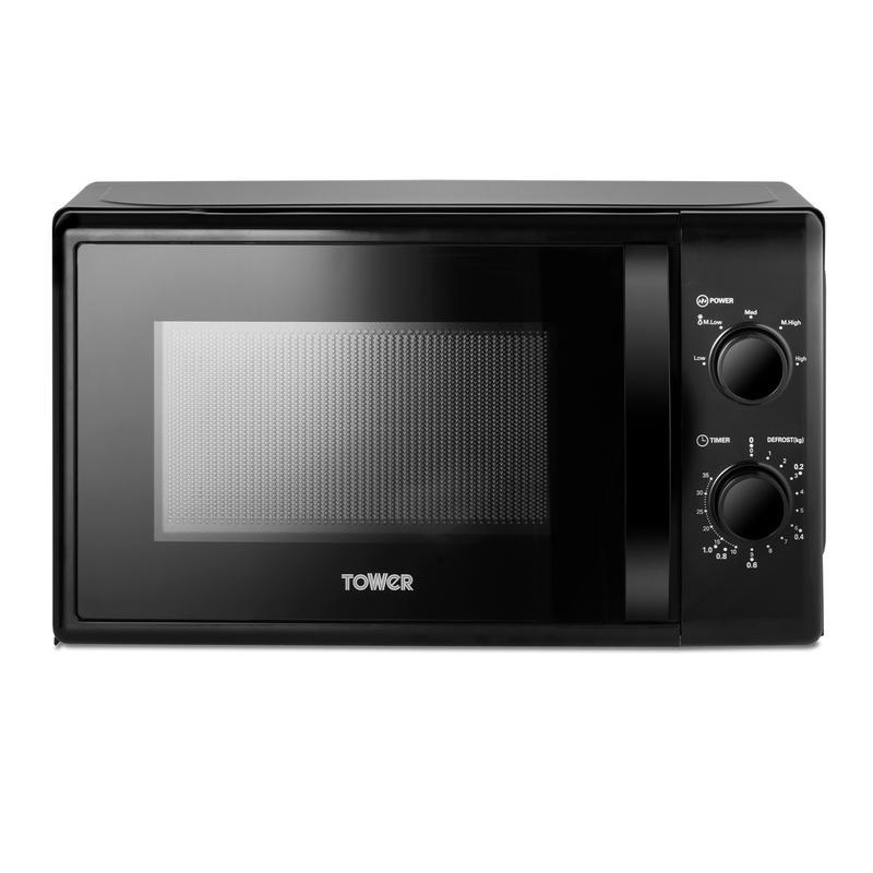 20L 700W Manual Microwave Black
