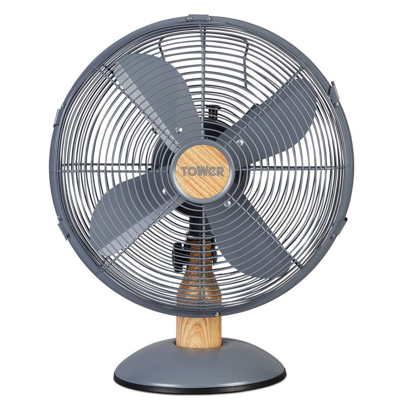 Scandi 12 Inch Metal Desk Fan Grey