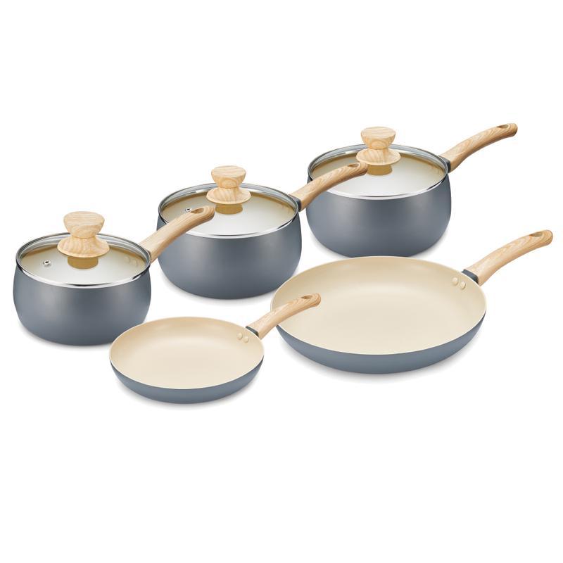 Scandi 5 Piece Pan Set Grey