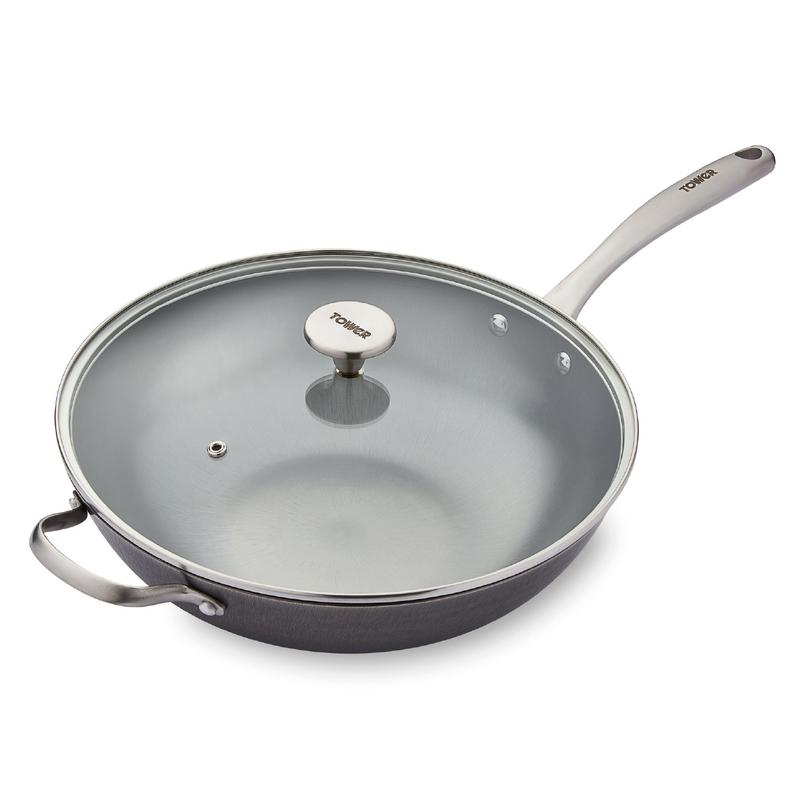 Titan Cast Iron 32cm Wok With Side Handle