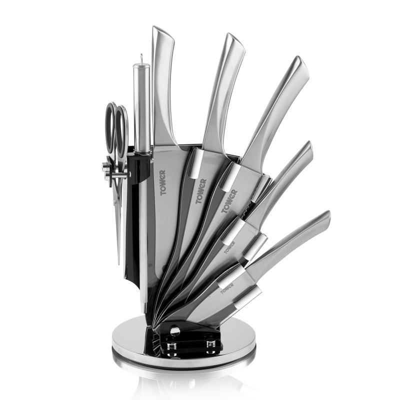 7 Piece Knife Set w/Stand S/Steel
