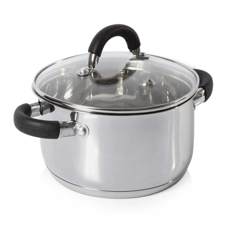 Essentials 24cm Casserole Dish S/Steel