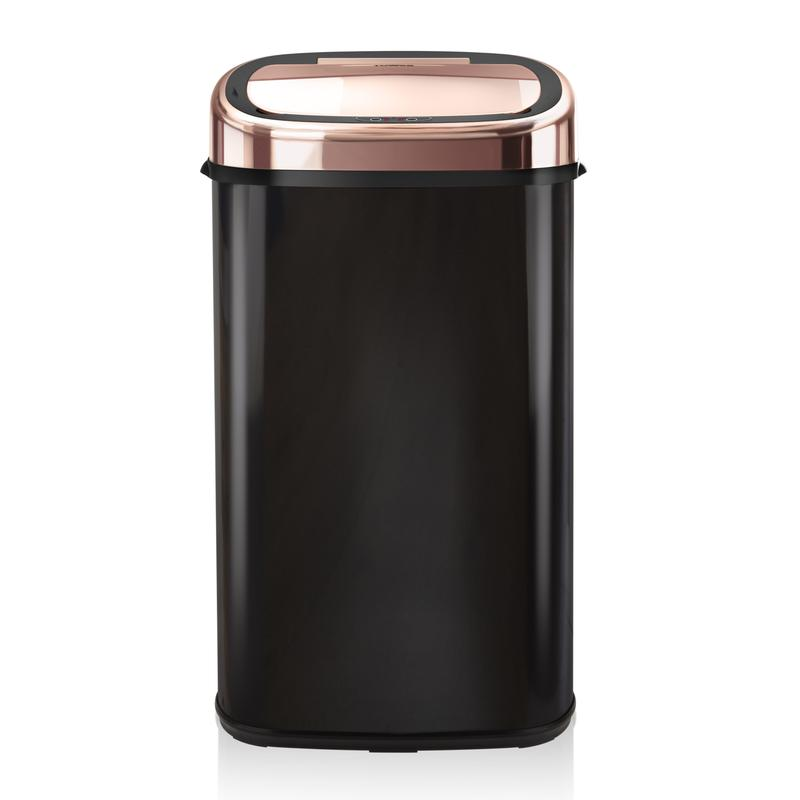 Rose Gold 58L Square Sensor Bin