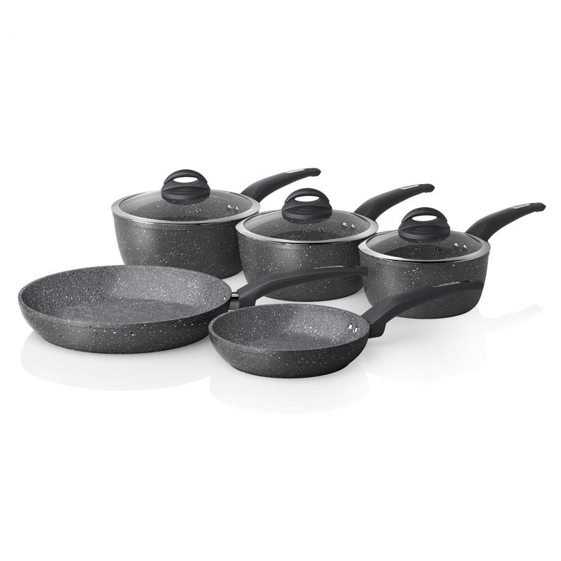 Cerastone Forged 5 Piece Pan Set Graphite