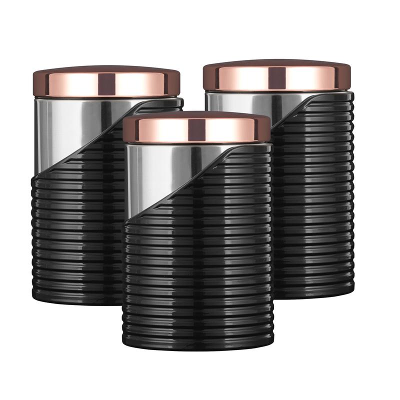 LINEAR Rose Gold Set of 3 Canister