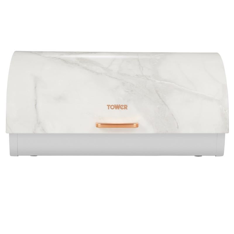 Marble Rose Gold Roll Top Bread Bin