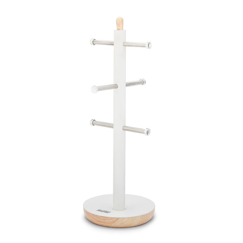 Scandi 6 Cup Mug Tree White