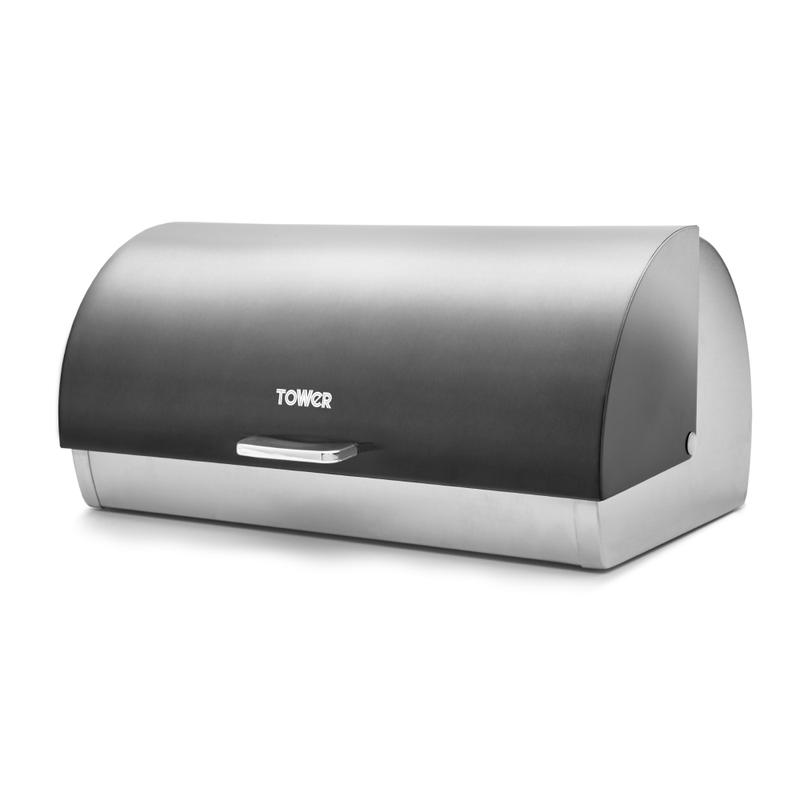 Infinity Ombre Roll Top Bread Bin Graphite