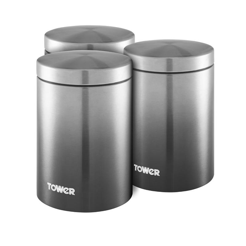 Infinity Ombre Set of 3 Canisters Graphite