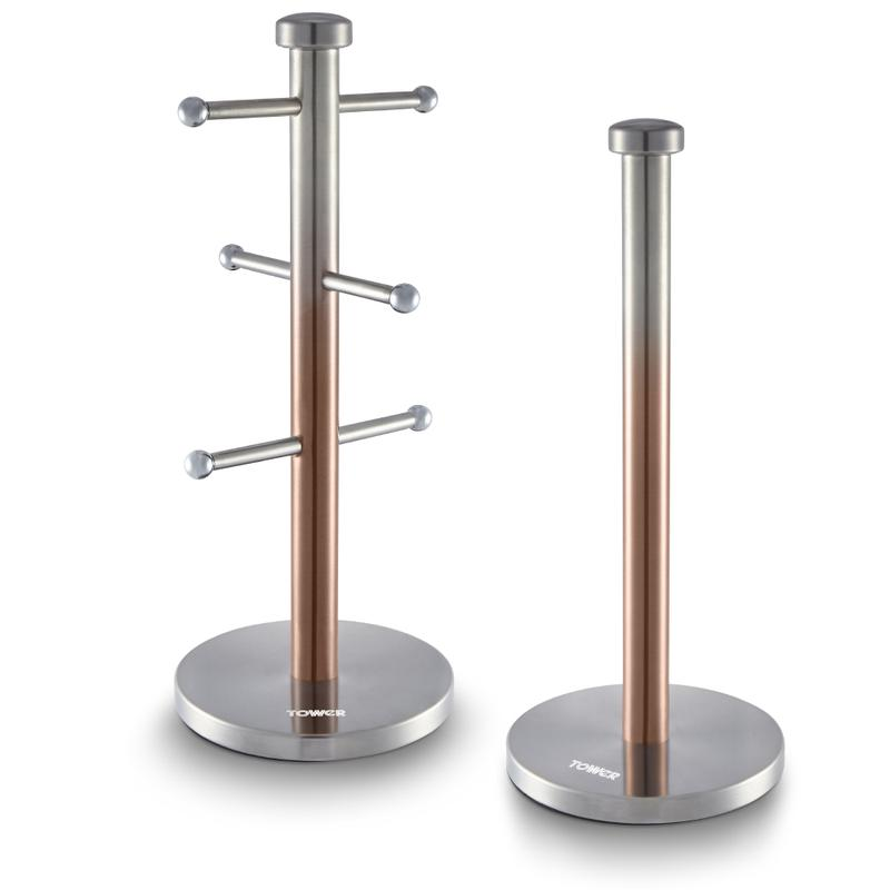 Infinity Ombre Mug Tree and Towel Pole Copper