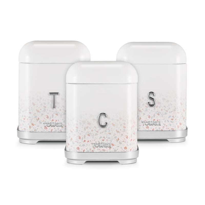 Terrazzo Set of 3 Canisters
